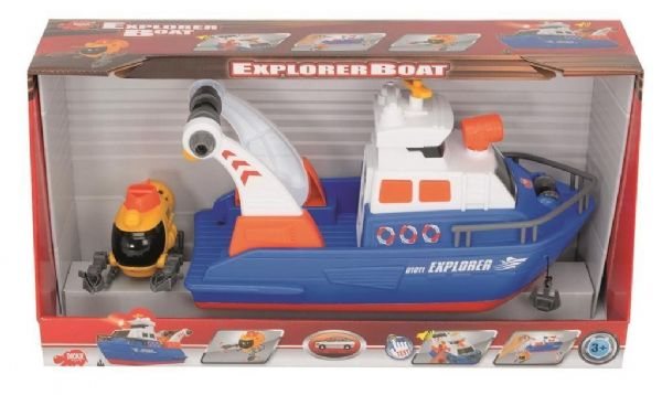 Dickie Toys Explorer Boat with lights and sound